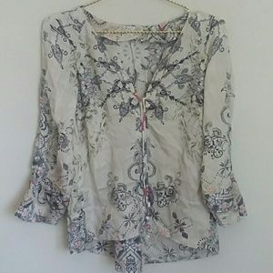 Anthropologie Odd molly boho blouse top xs
